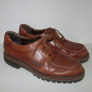 Mephisto Sherpa Leather Shoes Men 11 Brown Lace up